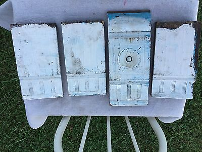 4 Antique Vintage Plinth Door Block Blocks - Architectural Salvage