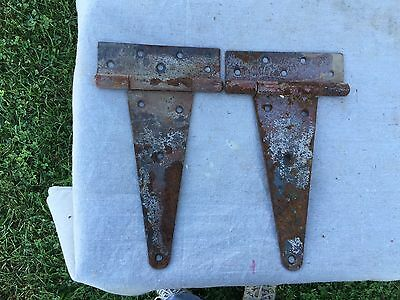 2 Vintage Strap Door Hinges 12 Inches Antique Barn Shed Hinge