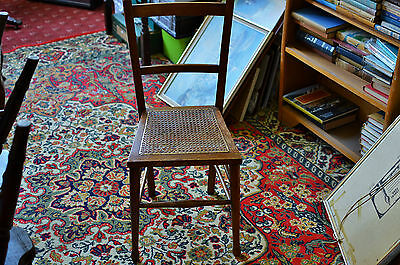 antique child's chair cane seat