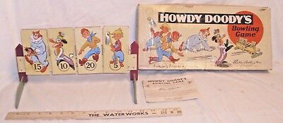 PARKER BROTHERS HOWDY DOODY TV SHOW BOWLING GAME COLORFUL 1950s BOXED