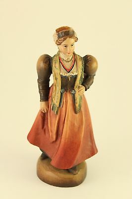 Vtg Anri Carved Wood Sculpture Figurine Wedding Party Lady Mother of the Bride