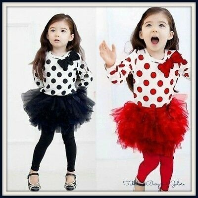 Girls Long Sleeve Bowknot Birthday Party Autumn Party Kids Dress winter Outfit