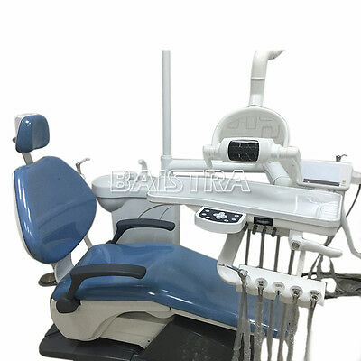 Dental Unit Chair Leather Electric Computer Controlled X-Film Fiber Optic C Good