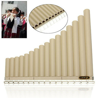 AU Beginners Pan Flute 16 Pipes Music Instrument Panpipe Easy Learn Awesome New