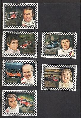 Racing Car Drivers on Stamps from Umm Al Qiwain