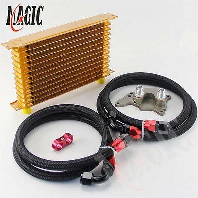 22 Row Engine An10 British Type Oil Cooler Kit For Bmw Mini Cooper