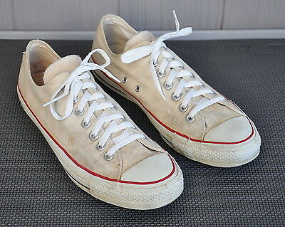 VTG 60s 70s? MADE IN USA CONVERSE CHUCK TAYLOR LO TOP OXFORDS SNEAKERS 9.5 WHITE