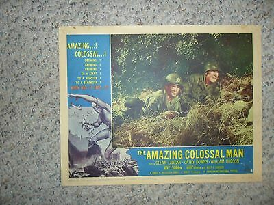 The Amazing Colossal Man 1957 ORIGINAL LOBBY CARD (#4) Monster Sci-Fi  AIP