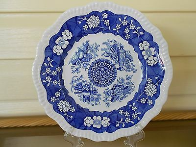 "Spode Blue Room Collection ""Trophies"" Cake Plate Mint Condition Made In England"