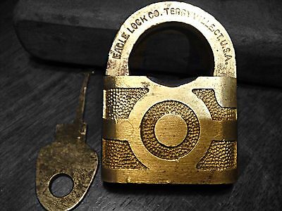 Vintage Eagle Lock Co. Terryville, CT. U.S.A Antique Lock Collectible Padlock