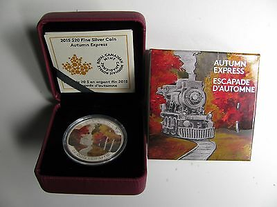 2015 Proof $20 Autumn #3-Express Canada .9999 silver twenty dollars train