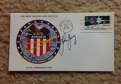 John Young SIGNED x2 Apollo 16 Insurance Cover
