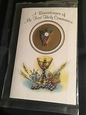 In Remembrance Of My First Communion Lapel Pin Cup Grapes Jesus Christ Church