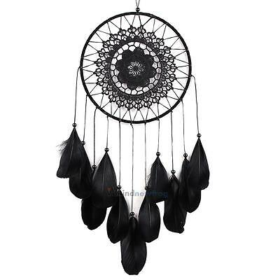 Handmade Lace Dream Catcher Feather Bead Wall Hanging Decoration Ornament Gift