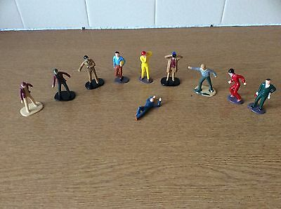 10 Vintage Scalextric Figures Painted In VGC