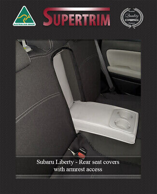 Seat Cover Fits Subaru Liberty Rear + Armrest Access Waterproof Premium Neoprene