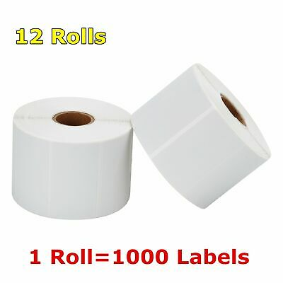 "12 Rolls 2.25"" x 1.25"" Direct Thermal Barcode Label Zebra LP2824 TLP2824 LP2844"