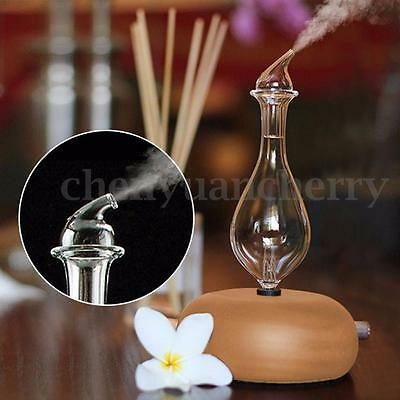 Wood & Glass Aromatherapy Pure Essential Oils Diffuser Air Nebulizer Humidifier