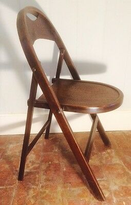 RARE ANTIQUE WOODEN FOLDING CHAIR ART NOUVEAU ARTS & CRAFTS PREHAPS STAKMORE 20s