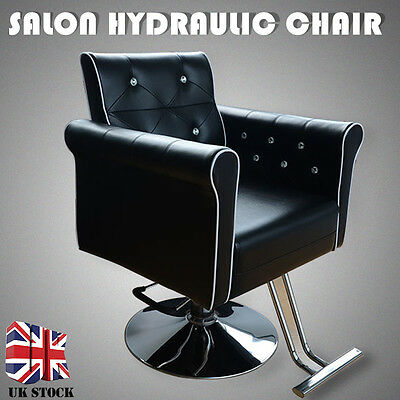 Black Hydraulic Soft Barber Tatto Salon Chair Hairdressing Beauty Furniture