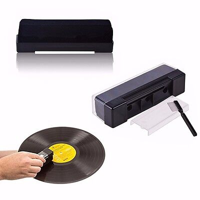 Hot Black Record Cleaning Kit Velvet Brush Stylus Cleaner Anti Dirt Dust Brush
