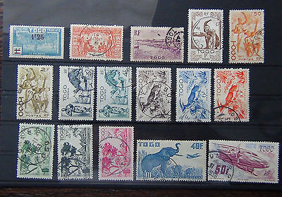 Togo Used range includes 1947 values to 50F + 1931 90c Exhibition