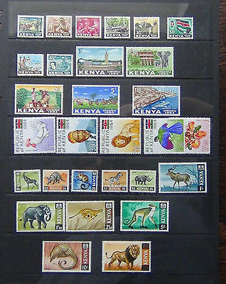 KUT 1963 set to 10s MNH 1964 Republic 1966 values to 20s MNH