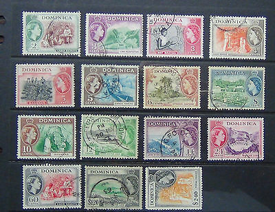Dominica 1954 - 1962 values to $2.40 Fine Used