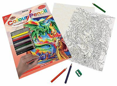NEW Royal & Langnickel Colour Pencil by Numbers Sorcerer Designed Painting Set