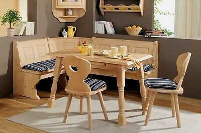 New AMBERG Eckbank Kitchen Dining Corner Set Seating Bench Table + Chairs