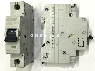 Dorman Smith 40 Amp Type B 40A Single Pole / Phase Mcb Circuit Breaker X1Pb40