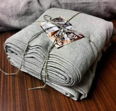 Natural rough organic pure linen fabric softened heavy grey linen for upholstery