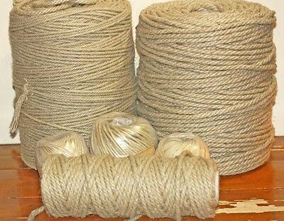 100% HEMP ROPE Soft  Natural Rope - Many uses -Crafts- Macrame  4- 6- 8MM