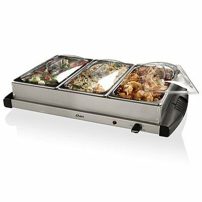 Oster Stainless Steel Electric Buffet Server Food Warmer Chafing Dishes. New