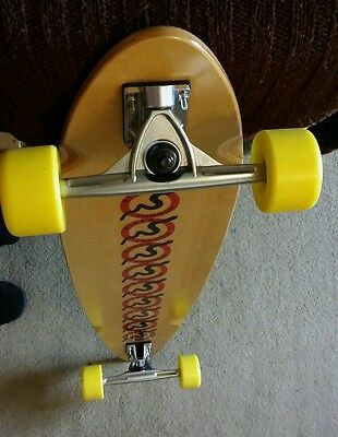 "※reduced※new※longboard 41"" X 8.5"" 70Mm 78A Wheels 7"" Trucks"