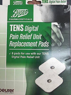 TENS Digital Pain Relief Replacement Pads x2