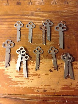 Lot of 12 Vintage Cabinet Keys Marked Corbin New Britain Conn. and Yale
