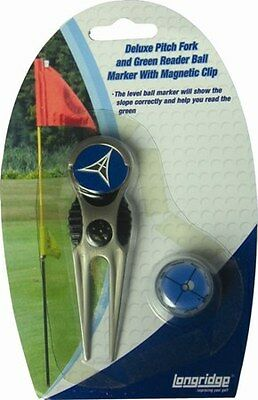 Delue Pitch Fork and Green Reader Ball Marker with magnetic clip
