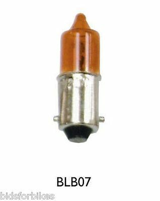 MOTORCYCLE MOTORBIKE MINI INDICATOR BULBS 12v 23w - BA9S BASE - SET OF 4 - AMBER