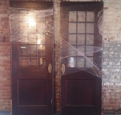 Fantastic Pair Of Antique Mahogany Pocket Doors With Hardware