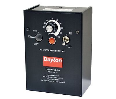 Dayton 13E661 Variable Frequency Drive, 1HP Max., 1 Input PH, 120/208-240V,HS1RL