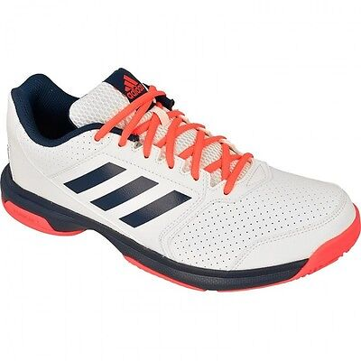 Mens Tennis Trainers adidas Performance Adizero Attack Outdoor  shoes White NEW