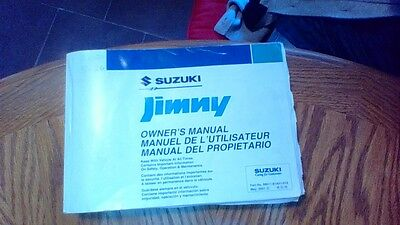Suzuki Jimny Owners Manual