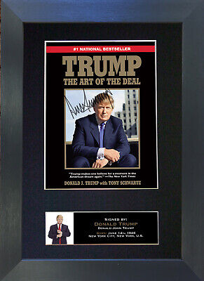 DONALD TRUMP Signed Aut Signed Autograph Mounted Photo REPRODUCTION PRINT A4 632