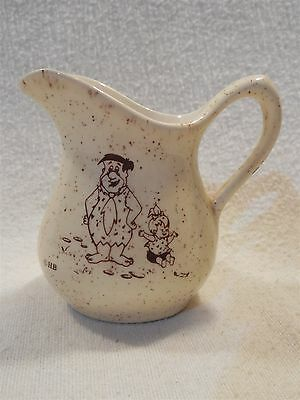 Flintstones Vintage Bedrock City Custer SD Small Pitcher/Creamer Fred & Pebbles