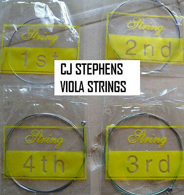 Viola Strings, Quality Full Set, Indvidually Wrapped, Great Tone, Uk Seller