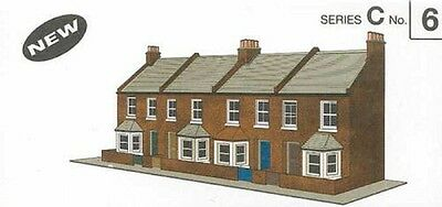 Superquick C6 Red Brick Terrace House Fronts Oo Card Kit Suit Hornby Peco