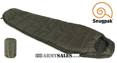 Snugpak SLEEPER LITE (BASECAMP) OLIVE 4 Season, Mummy Sleeping Bag with Hood