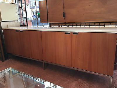 Florence Knoll Credenza Sideboard Cabinet Vintage Mid-century Genuine Marble
