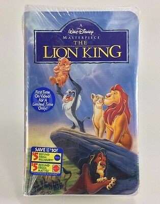 BRAND NEW SEALED - The Lion King VHS Tape Video 1995 Disney Masterpiece